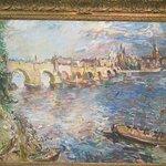 Prague - Charles Bridge, 1934 . Oskar Kokoschka