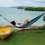 Girlfriend relaxing in the hammock