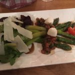Very generous and tasty asparagus appetizer