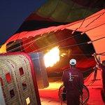 Hot Air Balloon Warm Inflation Dubai Desert
