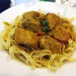 Odd curry pasta dish