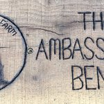 Ambassador's Bench -- Where all the best Abbey Road Farm Silo Suites guests are immortalized