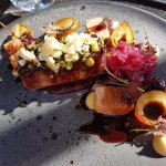Pork Belly with Beetroot Puree.