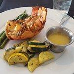 7 inch lobster tail,asparagus & squash/zucchinni