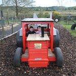 having fun on the tractor