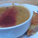 Carrot & coriander chowder with cheese toast- this was very filling and savory