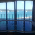 View from jacuzzi/spa area on top floor, wonderful seeing the boats pass.