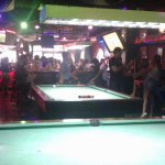view from the pool tables in the back...
