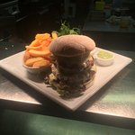 our delicious double stack Mexican burger!