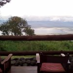 The view of the Ngorongoro crater from the house