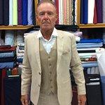 Wedding suit with vaist