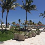 Picture from the restaurant to pool and beach areas