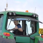 Great fun driving a tractor