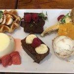 Sampler dessert to share.