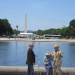 At the ground of the memorial is the Capitol reflecting pool with a great view of the Mall