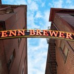 The grand entrance to Penn Brewery