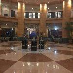 Front entrance, Lobby, elevator, bar