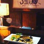 Fishermen's Platter and Spicy Chicken Salad..