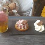 Boule de glace et dessert du jour