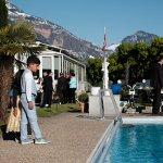 Hochzeitsfeier / Sektempfang auf der Terrasse