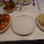 Crevettes pimentées et son riz cantonnais