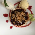 Beautiful and delicious blackberry crisp....best ever!