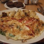 Veggie omelet with egg whites.
