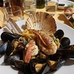 Pasta with Seafood - can be ordered with spicy olive oil