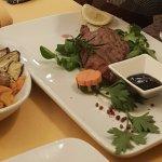 Ostrich Steak with Grilled Veggies - WoW