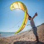 Beach crew starting kites!