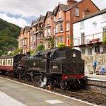 Train arriving at Llangollen station