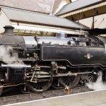 Steam engine at Llangollen station