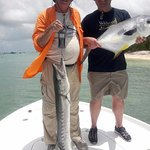Double hook up of a Permit and an incredibly aggressive barracuda.