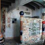 Amazing wine bottle wall