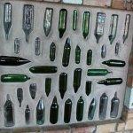 Wine bottle wall detail