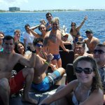 Whole bunch of snorkelers having fun