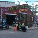 This is the street view of Mango Café.