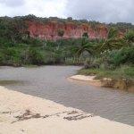 Em Trancoso na praia dos Nativos, um local muito bonito onde o rio desenboca no mar. .