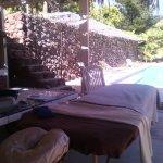 poolside massage!