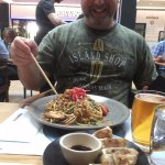 tempura squid, pork gyoza, and yakisoba noodles, all very good!