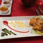 Starter dish at Khan Spices Indian Restaurant, Trim