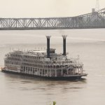 Riverboat seen while leaving Natchez