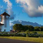 Nuestra entrada con el majestuoso Volcan Baru