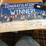 We won the pub quiz 😊😂