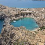 Another view from the top of the Acropolis in Lindos.