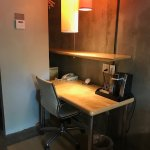 Desk with coffee maker
