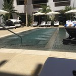 Beautiful resort - some rooms are pool-courtyard (so not super private unless your drapery is cl