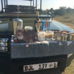Morning drive & hot coffee stop (homemade biscotti, shortbread, dried fruits)