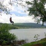 Ziplining alongside the Potomac River near Harpers Ferry