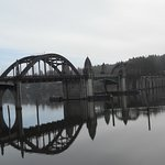 Historic Old Town Bridge and The Siuslaw River